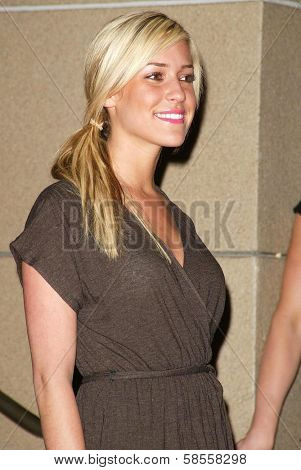 HOLLYWOOD - APRIL 06: Kristin Cavallari at the 2nd Annual Celebrity Rock 'N' Bowl Tournament at Lucky Strike Lanes on April 06, 2006 in Hollywood, CA.