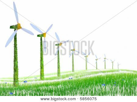 Power Generating Windmills On The White
