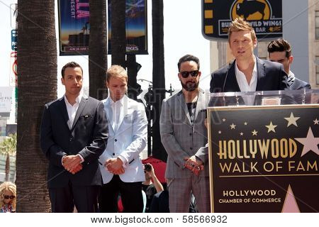 Howie Dorough, Brian Littrell, AJ McLean and Nick Carter at the