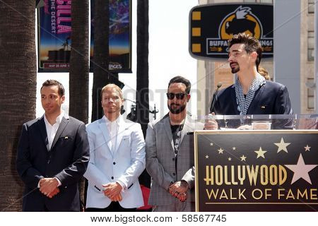 Howie Dorough, Brian Littrell, AJ McLean and Kevin Richardson at the