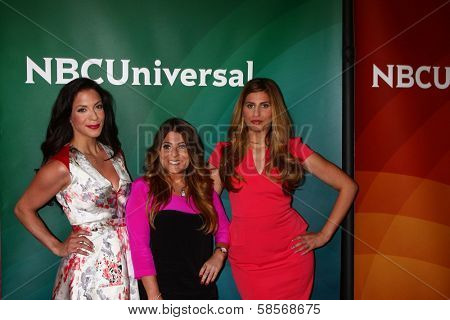 Joey Lauren, Ashlee White and Chanel Omari at the 2013 NBC Universal Summer Press Day , Langham Huntington Hotel, Pasadena, CA 04-22-13