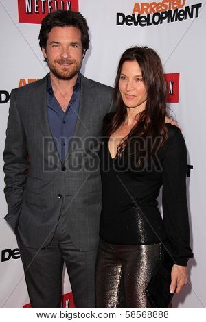 Jason Bateman and Amanda Anka at the
