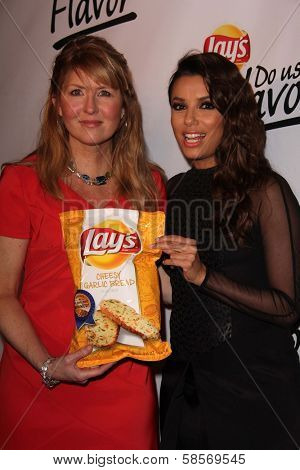 Karen Weber Mendham, Eva Longoria at Lays Do Us A Flavor Contest, Beso, Hollywood, CA 05-06-13