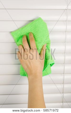 Dusting Window Blinds