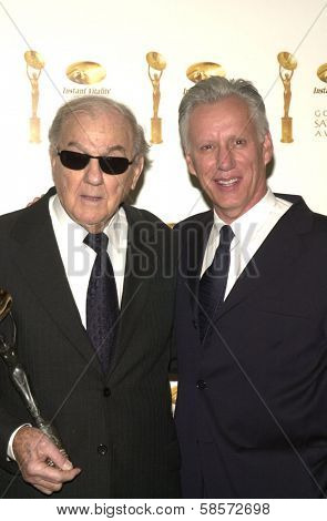 Karl Malden and James Woods at the 6TH ANNUAL GOLDEN SATELLITE AWARDS:  Thrown by the International Press Academy, honoring Moulin Rouge and Karl Malden at St. Regis Hotel, Century City, 01-19-02