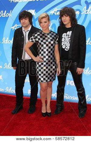 Neil Perry, Kimberly Perry and Reid Perry at the American Idol Season 12 Finale Arrivals, Nokia Theater, Los Angeles, CA 05-16-13
