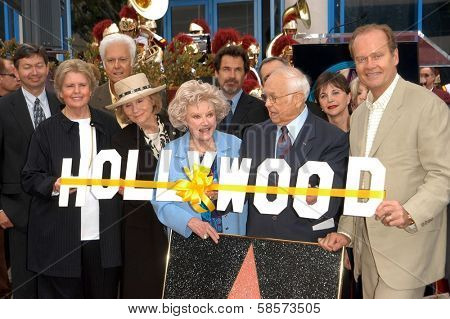 Linda Hope, Eva Marie Saint, Jack Jones, Phyllis Diller, Dennis Miller, Johnny Grant, Cindy Williams, Kelsey Grammer at Hollywood Walk of Fame honoring Bob Hope, Hollywood, CA 04-15-03