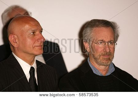 Sir Ben Kingsley and Steven Spielberg at the Legacy of