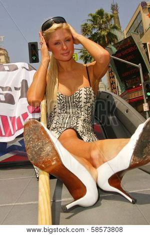 Paris Hilton at the Bullrun Rally 2004 in Hollywood, California. 06-05-04