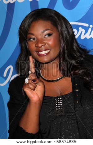 Candice Glover at the American Idol Season 12 Finale Press Room, Nokia Theater, Los Angeles, CA 05-16-13