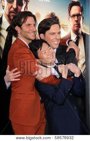 Bradley Cooper, Ken Jeong, Ed Helms at