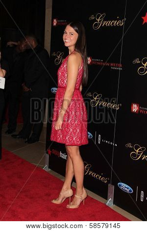 Sutton Foster at the 2013 Gracie Awards Gala, Beverly Hilton Hotel, Beverly Hills, CA 05-21-13