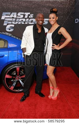 Tyrese Gibson and guest at the