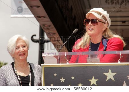 Olympia Dukakis and Diane Ladd at the Olympia Dukakis Star on the Hollywood Walk of Fame Ceremony, Hollywood, CA 05-24-13