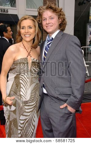 HOLLYWOOD - APRIL 28: Meredith Vieira and son at The 33rd Annual Daytime Emmy Awards at Kodak Theatre on April 28, 2006 in Hollywood, CA.