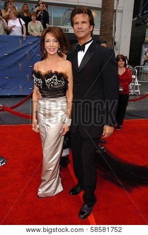 HOLLYWOOD - APRIL 28: Lorenzo Lamas and friend at The 33rd Annual Daytime Emmy Awards at Kodak Theatre on April 28, 2006 in Hollywood, CA.