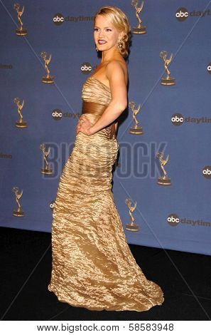 HOLLYWOOD - APRIL 28: Alexa Havins in the press room at The 33rd Annual Daytime Emmy Awards at Kodak Theatre on April 28, 2006 in Hollywood, CA.