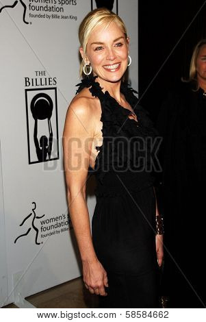 BEVERLY HILLS - APRIL 20: Sharon Stone at the inaugural The Billies presented by The Women's Sports Foundation at Beverly Hilton Hotel on April 20, 2006 in Beverly Hills, CA.
