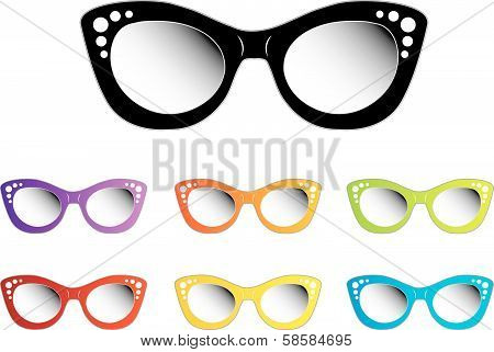 Vintage cat eye eye wear for ladies
