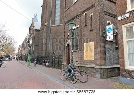 On The Street  In Delft. Netherlands
