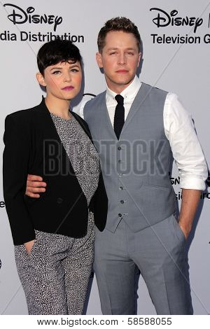 Ginnifer Goodwin and Josh Dallas at the Disney Media Networks International Upfronts, Walt Disney Studios, Burbank, CA 05-19-13