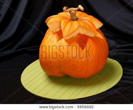 Cut Halloween Pumpkin