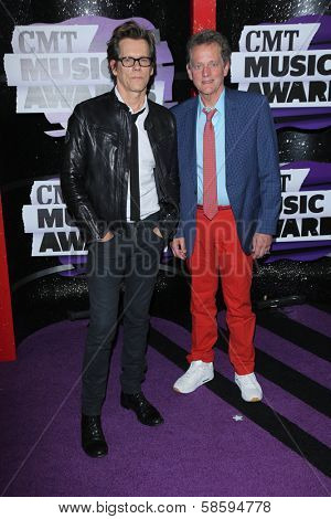 Kevin Bacon and Michael Bacon at the 2013 CMT Music Awards, Bridgestone Arena, Nashville, TN 06-05-13