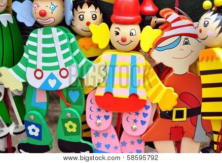 Wooden colorful toys