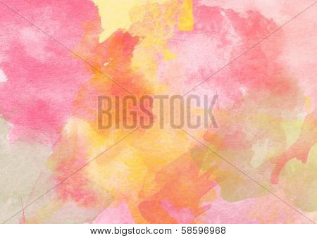 Beautiful Warm Watercolor Background.