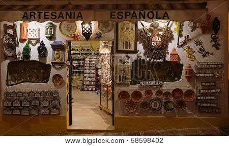 Souvenir shop in Marbella