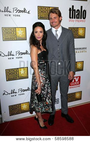 Abigail Spencer and Josh Pence at the 3rd Annual Critics' Choice Television Awards, Beverly Hilton Hotel, Beverly Hills, CA 06-10-13