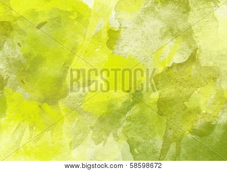 Fresh Green Watercolor Background for Design