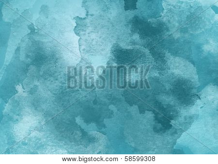Cold Blue Watercolor Background