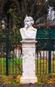 stock photo of salvatore  - Half-length sculpture of Salvatore Greco dei Chiaramonte Villa Borghese in Rome