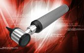 stock photo of otoscope  - Digital illustration of otoscope in white background - JPG