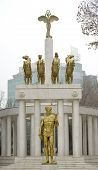 stock photo of macedonia  - Statues of a monument Fallen Heroes of Macedonia - JPG