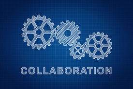 image of mechanical drawing  - Collaboration Concept - JPG
