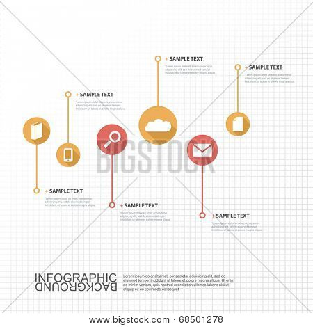 Timeline Infographic Design with Your Text and Icons. Eps 10 Vector Illustration