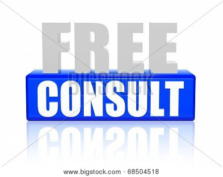 Free Consult In 3D Letters And Block