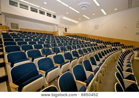 Empty lecture hall in college