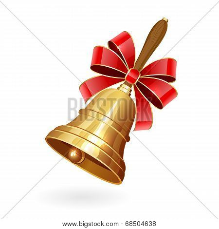 School Bell With Bow
