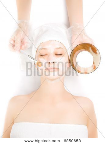 Girl At Spa Procedures