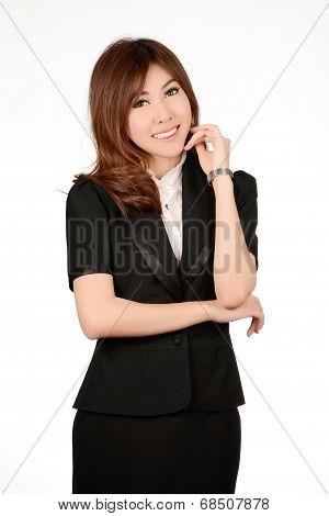 Asian Woman. Smiling Asian Educational / Business Woman.