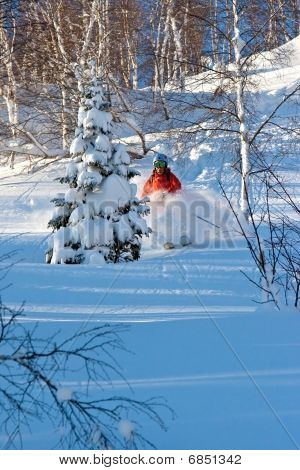 Freeride in Siberia