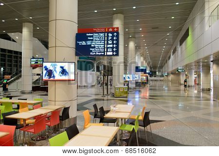 KUALA LUMPUR-APRIL 23: airport interior on April 23, 2014 in Kuala Lumpur, Malaysia. KLIA is Malaysia's main international airport and one of the major airports of South East Asia