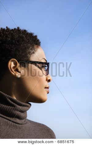 Profile Of Young African American Woman