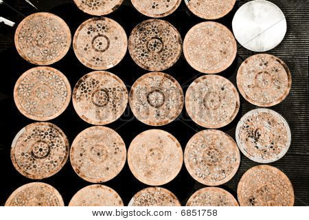 Rustic Round Tables Together