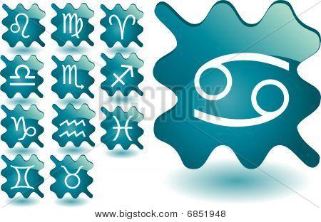 Zodiac Blue Buttons