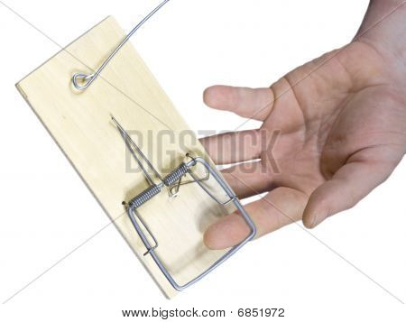 Hand Got In A Mousetrap