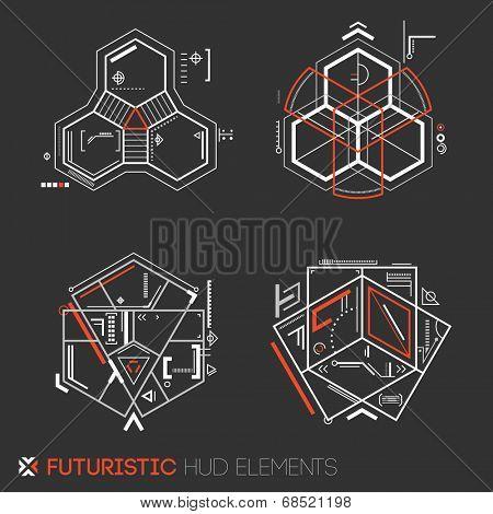Futuristic HUD elements